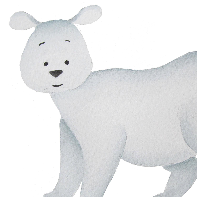 Polar Fox clipart artic  file This a bear