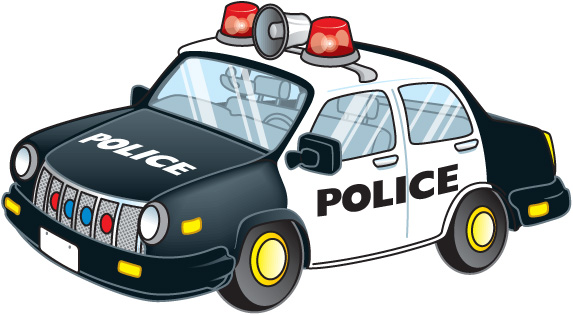 Police clipart hand up Images free  car law