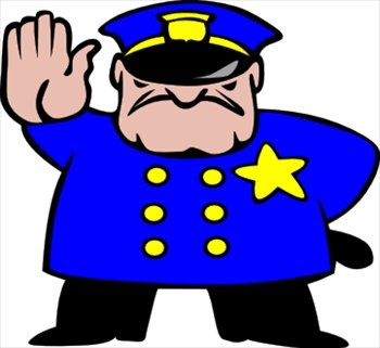 Police clipart hand up  and Free Graphics Images