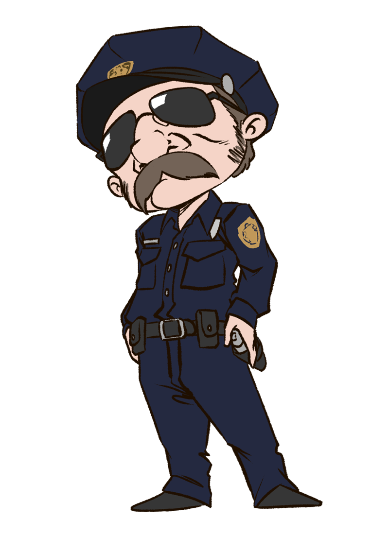 Cartoon clipart policeman Clipart uniform officer Clip clipart