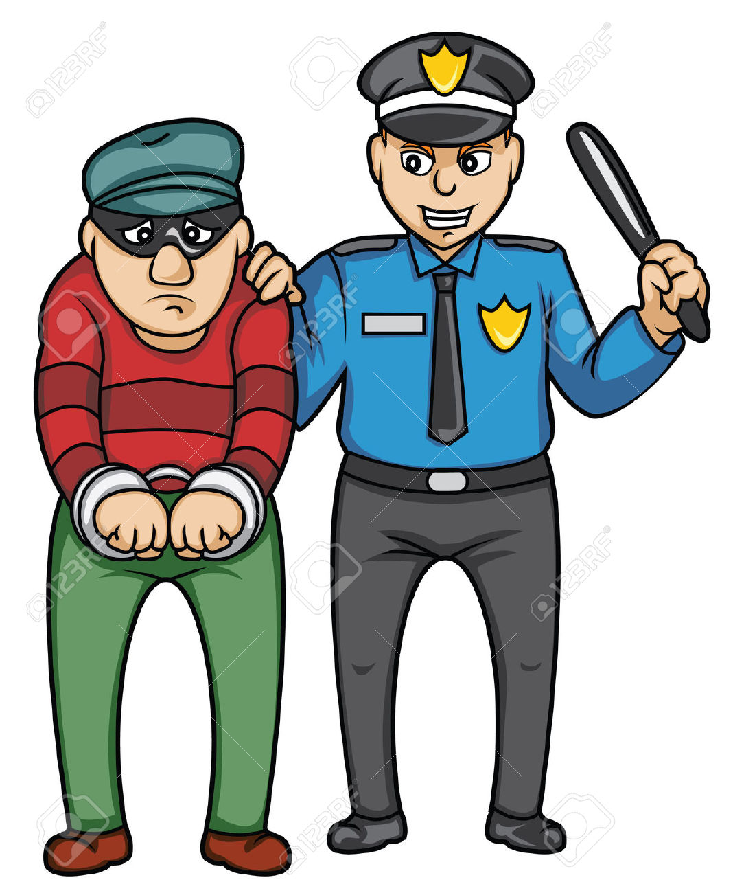 Police clipart arresting #1
