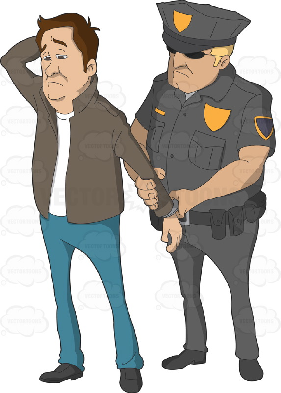 Police clipart arresting On Him Female  And