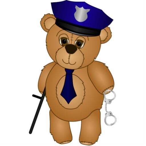 Police clipart bear #1
