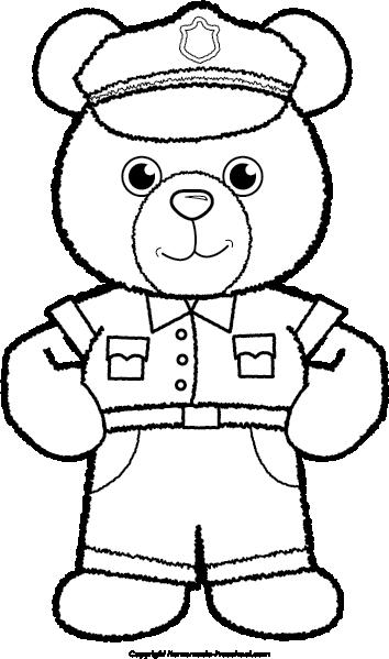 Police clipart bear #3