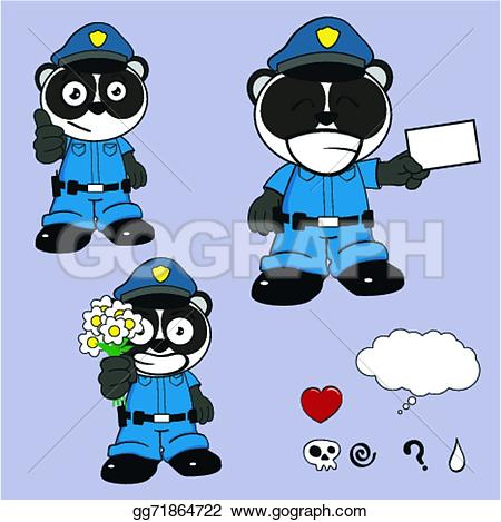 Police clipart bear Police Panda police vector cartoon