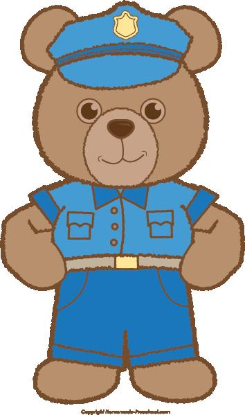 Police clipart bear #2