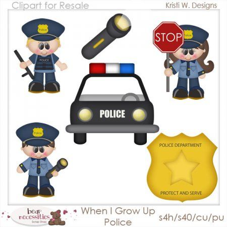 Police clipart bear Clipart Up & $10 for