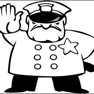 Police clipart black and white And and white #7372 image