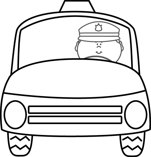 Police clipart black and white Images Officer Clip Car Police