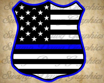 Police clipart blue Etsy Police svg silhouette Police