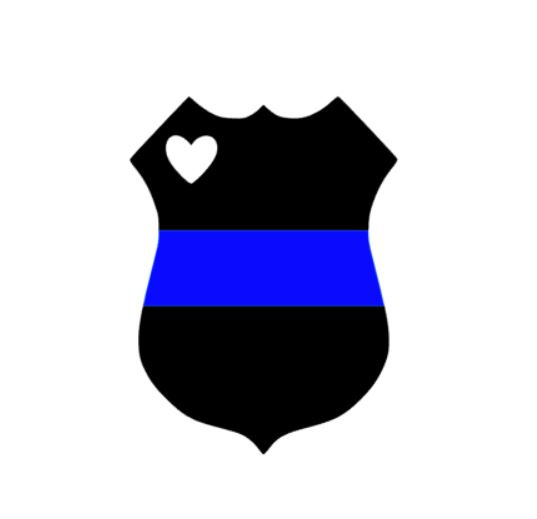 Police clipart blue Decal Police Decal Police Thin