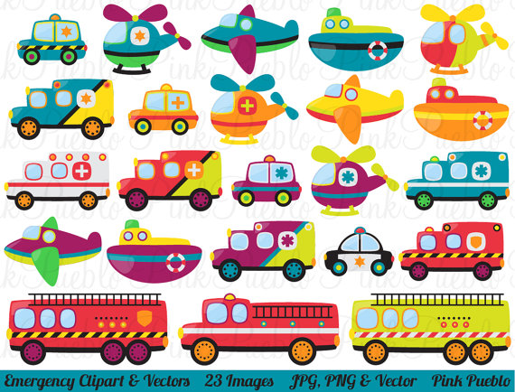 Emergency clipart border Clip Police Transportation Vectors Emergency