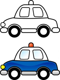 Vehicle clipart coloring Pages & Coloring Police Your