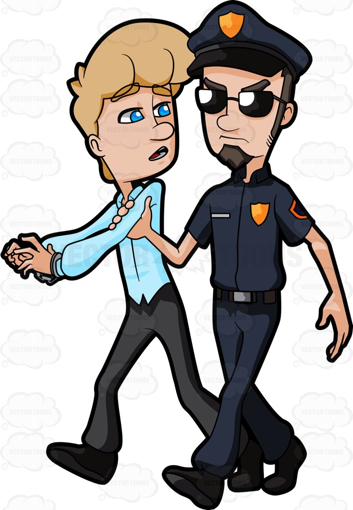 Police clipart comic A As  Arrested And
