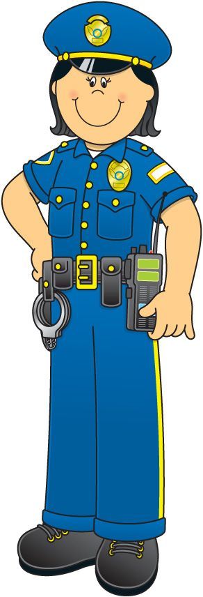 Police clipart community helper #1