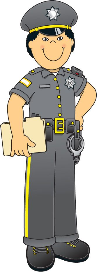 Police clipart community helper #4