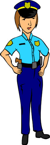 Police clipart community helper #6