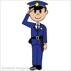 Police clipart community helper #8