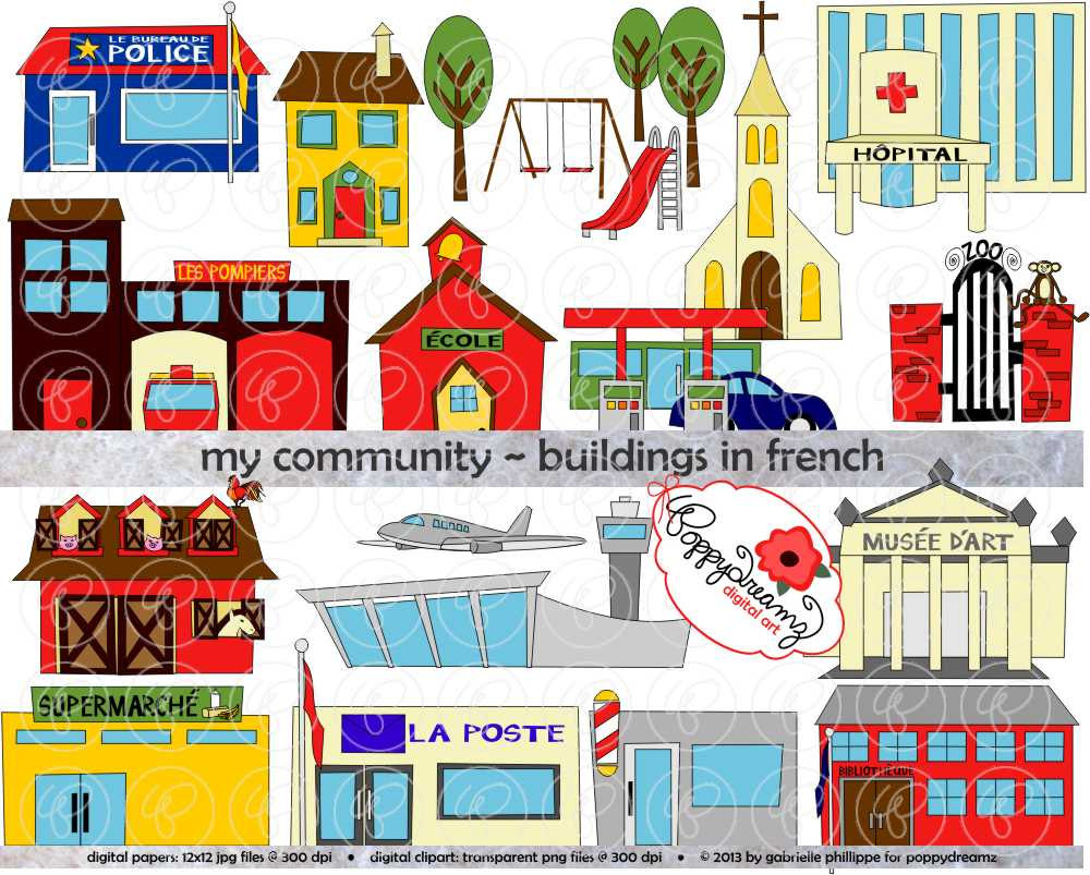 Community clipart town Station in transparent Community Etsy
