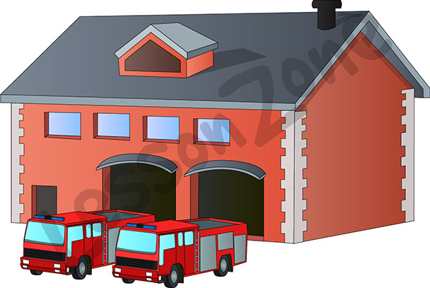 Police clipart fire station #5