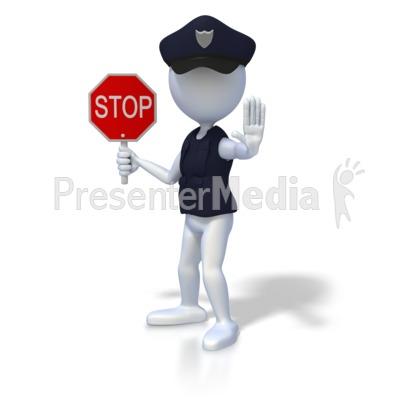 Police clipart halt #3