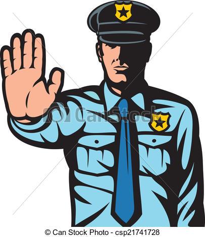 Police clipart halt #1