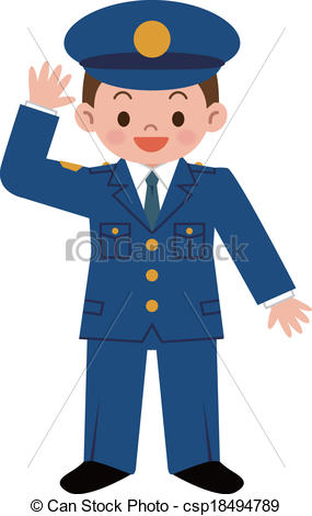 Drawing clipart police officer #6