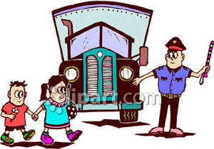 Traffic clipart traffic cop A art for child kids