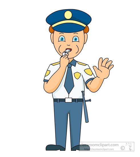 Traffic clipart traffic police #2