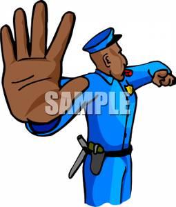 Traffic clipart traffic police #3
