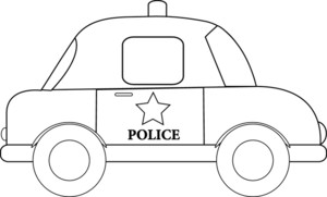 Truck clipart outline Image Illustration Clipart of Police