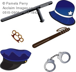 Police clipart police equipment #1