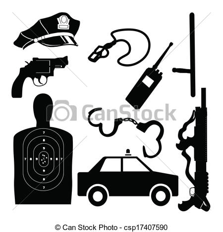 Police clipart police equipment #5