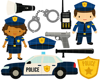 Police clipart police equipment #3