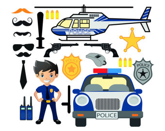 Police clipart police helicopter Police Station PNG Printable Invitations