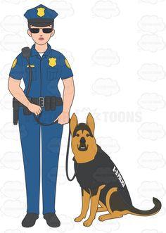 Futuristic clipart policeman #1