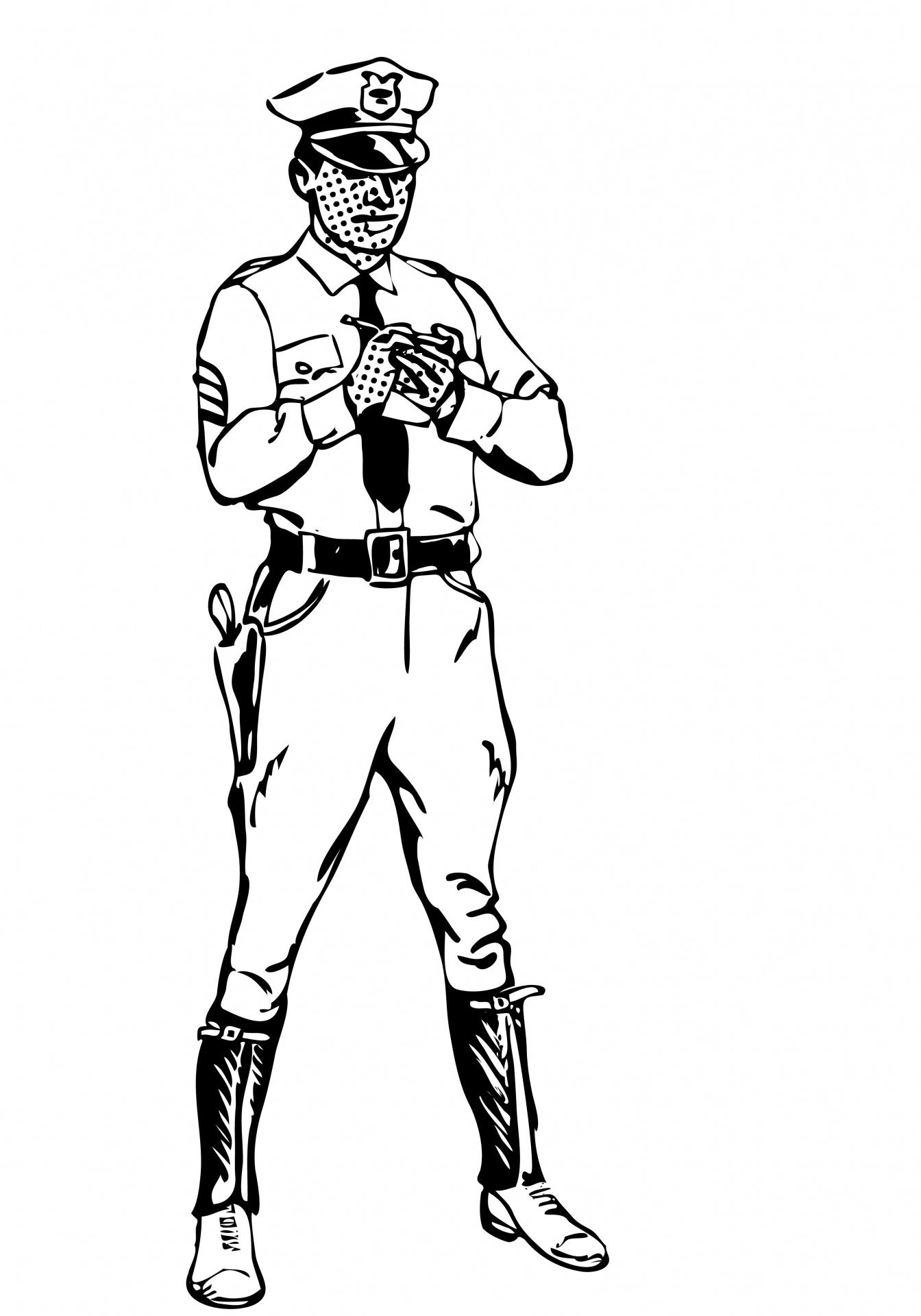 Monochrome clipart policeman Clipart Stock Clipart Police Police