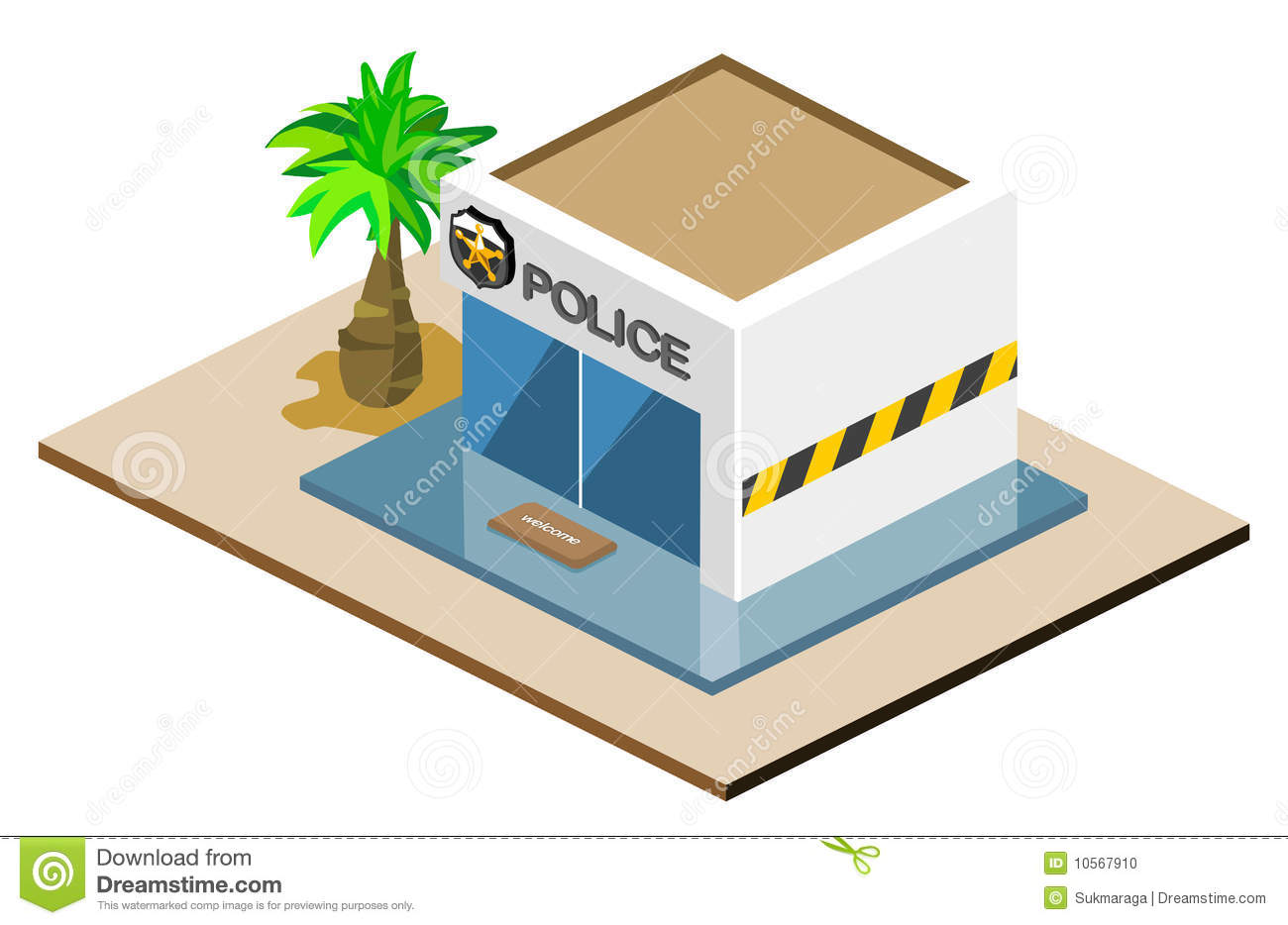 Police clipart police station #2