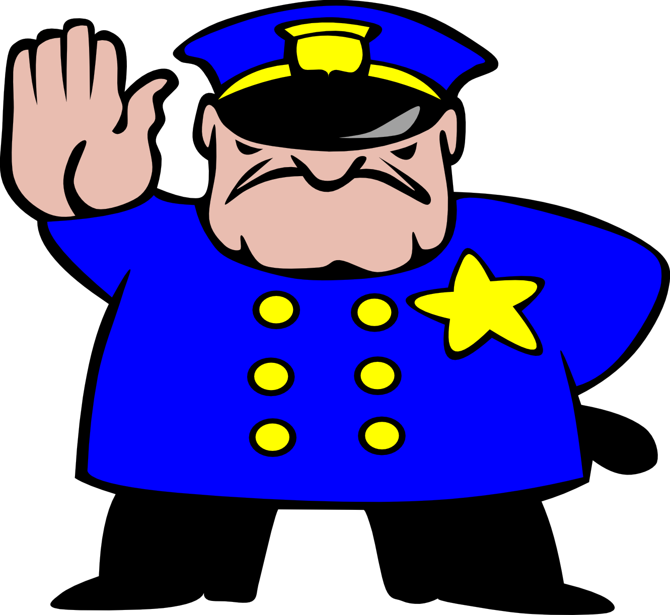 Stop clipart police man Clipart of Clipartwork Police Clipart