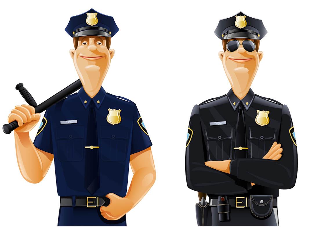 Futuristic clipart policeman #3