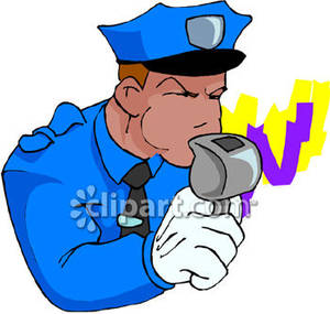 Police clipart police whistle Royalty Clipart Cop His Traffic