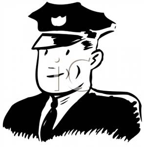 Monochrome clipart policeman Royalty Clipart Free Officer In