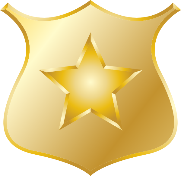 Cowgirl clipart police star Badges #21070 clip badge art