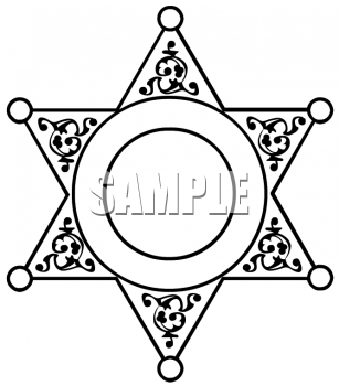 Cowgirl clipart police star Clipart Police Images Badge Clipart