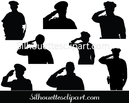 Police clipart silhouette #8