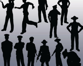 Police clipart silhouette Police Black Etsy Images 12