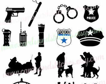 Police clipart silhouette Clipart Silhouette SVG Police Cutting