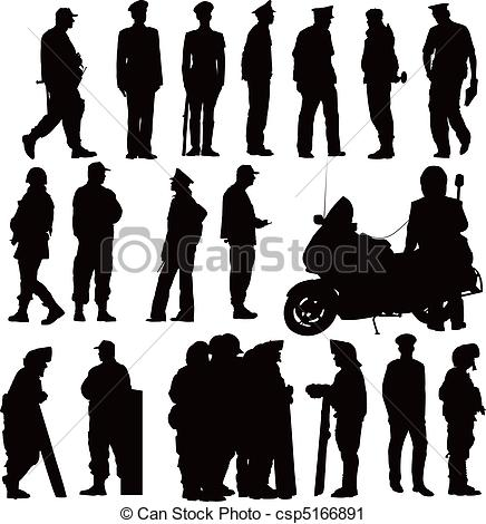 Police clipart silhouette #10