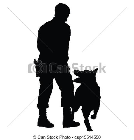 Police clipart silhouette #11