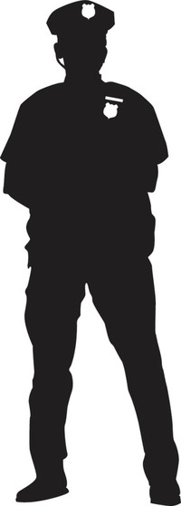 Police clipart silhouette #1